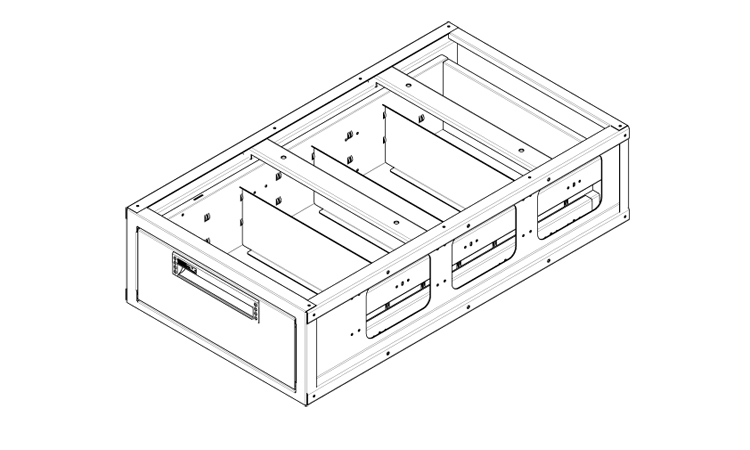 underfloor chest of drawers for vans by order system